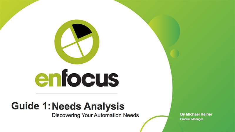 Cover page: the Enfocus guide to workflow automation needs analysis