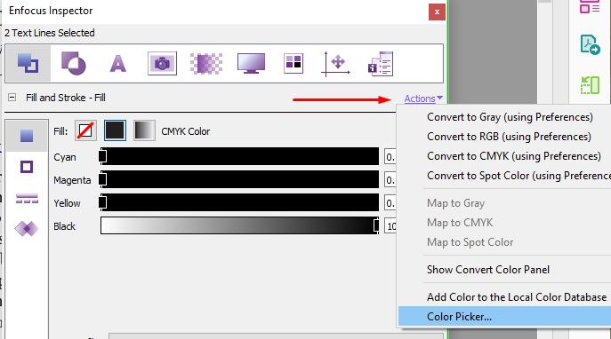 edit text color in a PDF file