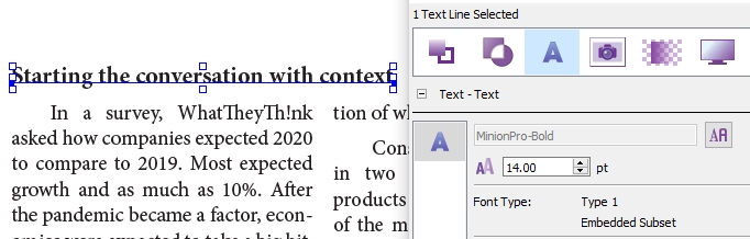 making a text edit in a PDF file