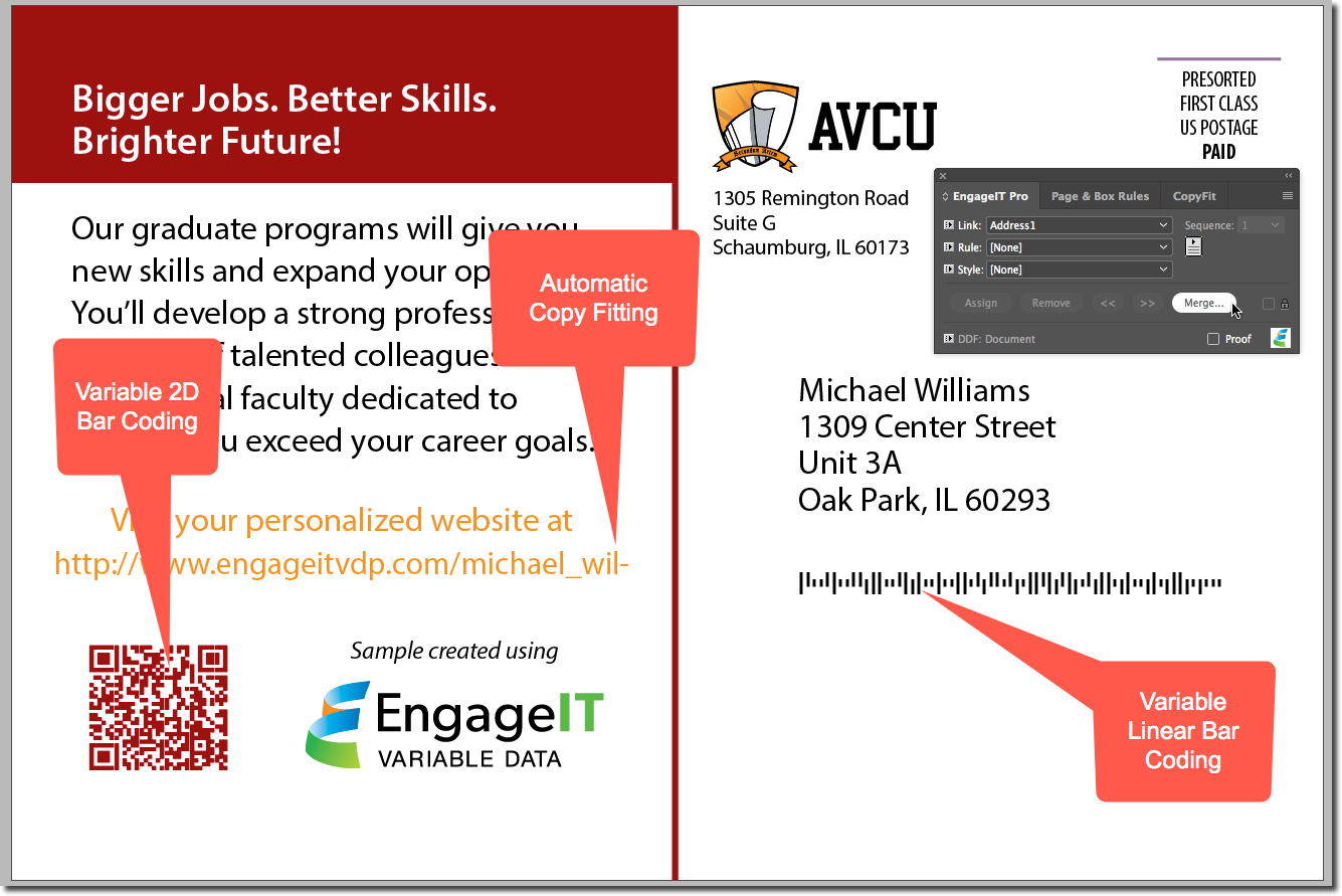 EngageIT VDP for Adobe InDesign | Enfocus
