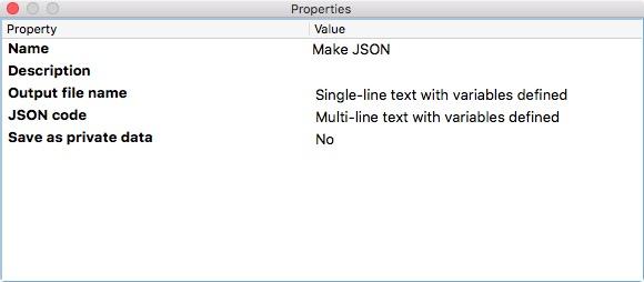 Json Variables