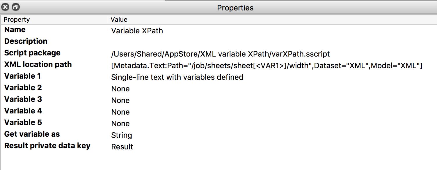 Variable XPath | Enfocus
