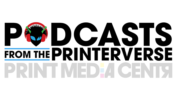 podcasts from the printerverse logo