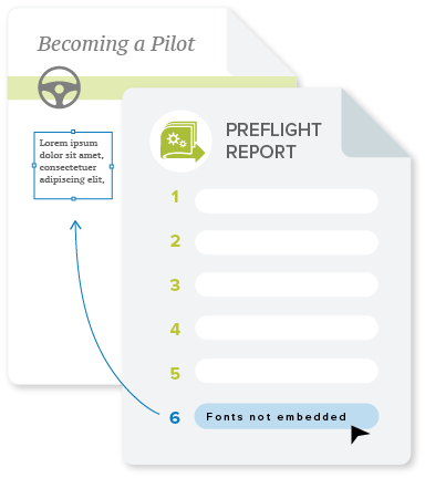 automated PDF preflight report