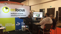 graphics canada expo - enfocus booth