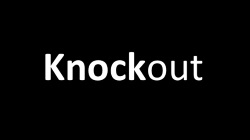 how to print knockout text